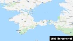 Граница между Херсонской областью и Крымом обозначена как административная