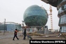 EXPO-2017 көрмесі құрылысы. Астана, 31 қазан 2016 жыл.
