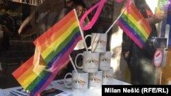 Подготовки за денешното одржување на парада на гордоста во Белград