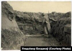 Затопленая нямецкая траншэя пад Паставамі