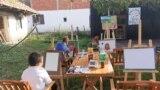 Shkolla e pikturës në afërsi të Prishtinës.