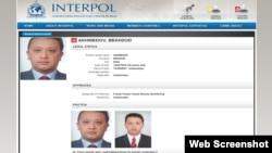 Behzod Ahmedov interpol qidiruvida
