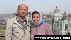"""Adam hukuklary boýunça Türkmen inisiatiwasy"" toparynyň başlygy Farid Tuhbatullin we onuň ejesi Halida Izbastinowa"