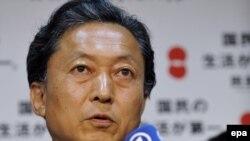 Лидер победившей оппозиции Юкио Хатояма