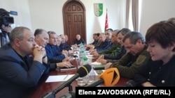 Сегодня прошла первая встреча, на которой штаб проинформировали о ситуации и высказались по вопросу режима ЧП