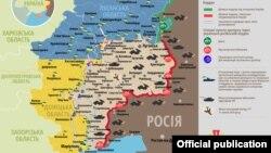 Ситуація в зоні бойових дій на Донбасі, 13 лютого 2019 року. Інфографіка Міністерства оборони України
