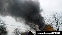 Пажар на «Пінскдрэве».