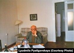Александр Пятигорский в Праге, 1996. Фото Людмилы Пятигорской