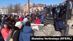 There were no arrests or violence at the March 26 protest in Irkutsk.