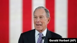 Mike Bloomberg seçki tədbirində