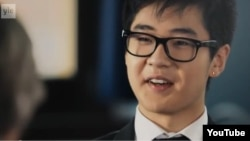 Kim Han Sol appears well spoken and confident in his interview with Elisabeth Rehn.