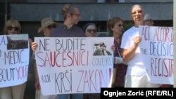 Protest dela članstva Jevrejske opštine Beograda