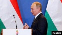 Володимир Путін під час попереднього візиту до Угорщини, Будапешт, 2 лютого 2017 року
