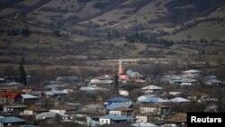 Селение в Панкисском ущелье в Грузии.