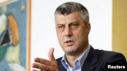 Kosovo - Kosovo's Prime Minister Hashim Thaci speaks during an interview with Reuters in Pristina, 20Dec2010