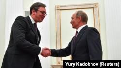 Poseta predsednika Srbije i lidera vladajuće Srpske napredne stranke Moskvi i Vladimiru Putinu u oktobru 2018.