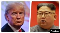 Президент США Дональд Трамп и лидер Северной Кореи Ким Чен Ын.