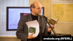 На прэзэнтацыі кніжнай сэрыі «Паэты плянэты» ў кастрычніку 2016