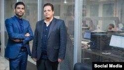 سجاد شهیدیان (سمت چپ) در کنار وحید والی، دو مدیر شرکت «پرداخت ۲۴»،