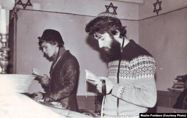 Еврейские активисты Максим Фрейдзон и Михаил Эльман, 1982 'Мы путешествовали по еврейской Грузии. Пекли мацу для Ленинградской общины'