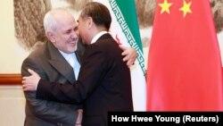 دیدار محمدجواد ظریف با همتای چینیاش، وانگ یی، در سال ۲۰۱۹