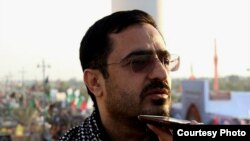 Former Tehran prosecutor Saeed Mortazavi speaking with reporters during his trail in 2015.