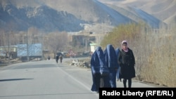 Women in the Taliban controlled parts of Badakhshan are not allowed to step outside without a male guardian (file photo).