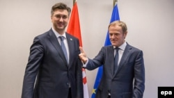 Hrvatski premijer Andrej Plenković i predsednik Evropskog saveta Donald Tusk