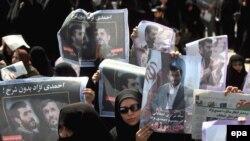 تجمع سوگوارانه هواداران محمود احمدینژاد در میدان ولی عصر تهران/ پنجشنبه ۷ خرداد ۸۸