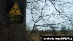 Зона отчуждения вокруг Чернобыльской АЭС.