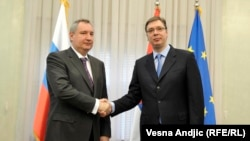 Aleksandar Vučić i Dmitrij Rogozin