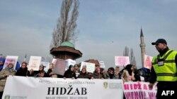 Protesti protiv odluke VSTV-a, February 7, 2016