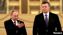 Встреча Владимира Путина и Виктора Януковича в Кремле 17 декабря 2013 года