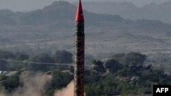 Запуск пакистанской ракеты