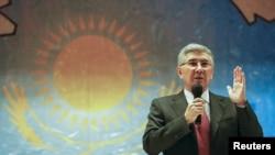 Председатель Общенациональной социал-демократической партии (ОСДП) Жармахан Туякбай. Алматы, 30 января 2016 года.