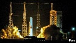 Иран зымыран тасығышының ғарышқа ұшқан сәті. 15 қаңтар 2019 жыл.