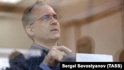 Former U.S. Marine Paul Whelan in a Moscow court earlier this year.