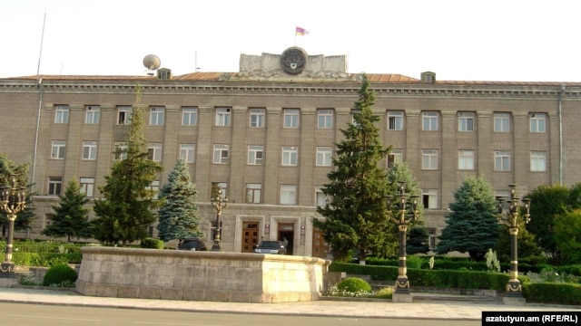 Nagorno-Karabakh - The presidential administration building in Stepanakert.