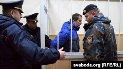 Підсудний Микола Кірєєв у залі суду, Вітебськ, Білорусь, 13 листопада 2017 року