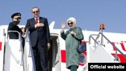 Премьер-министр Турции Эрдоган с супругой, Бишкек