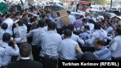 Təhsil Nazirliyi qarşısında aksiya. 5 oktyabr 2012