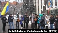 Учасники колядування у Дніпропетровську, 7 січня 2013 року