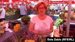 Prodavačica i uzgajivačica povrća Radmila Zrnec