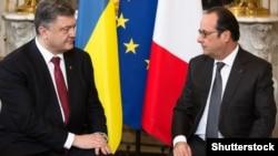 Петро Порошенко і Франсуа Олланд (архіфне фото) (©Shutterstock)