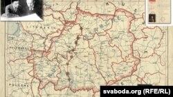Мапа межаў Беларускай Народнай Рэспублікі
