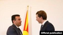 Архивска фотографија- Премиерот Зоран Заев и австрискиот канцелар Себастијан Курц