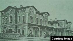 Gara din Ungheni, înc. sec. XX (Foto: Ion Țurcanu, Mihai Papuc, Basarabia în actul Marii Uniri de la 1918)