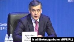 Нұрлан Ермекбаев, азаматтық қоғам және дін істері жөніндегі министр. Астана, 16 маусым 2017 жыл.