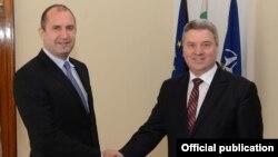 Средба на македонскиот претседател Ѓорѓе Иванов со новоизбраниот бугарски претседател Румен Радев, 22 ноември 2016