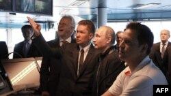 Президент Росії Володимир Путін і керівник «Газпрому» Олексій Міллер на запуску будівництва «Турецького потоку», 23 червня 2017 року